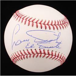 """Luis Tiant Signed OML Baseball Inscribed """"El Tiante"""" (JP Sports Hologram)"""