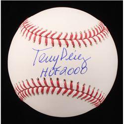 "Tony Perez Signed OML Baseball Inscribed ""HOF 2000"" (JP Sports Hologram)"