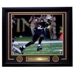 Michael Thomas Signed New Orleans Saints 22x27 Custom Framed Photo Display (JSA COA)