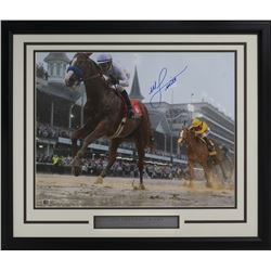 Mike Smith Signed 22x27 Custom Framed Photo Display (SI COA)