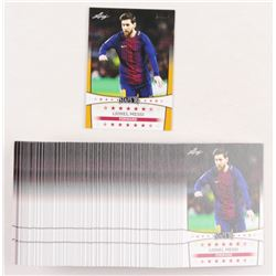 Lot of (101) 2018 Leaf Lionel Messi Soccer Cards with (1) Gold Stars '18 SY-02  (100) Stars '18 SY-0