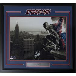 """Stan Lee Signed """"Spider-Man"""" 22x27 Custom Framed Photo Display (JSA  Lee Hologram)"""