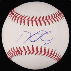 Dustin Pedroia Signed OML Baseball (Steiner COA)