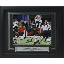 Brandon Graham Signed Philadelphia Eagles Super Bowl 52 11x14 Custom Framed Photo Display (JSA COA)