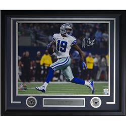 Amari Cooper Signed Dallas Cowboys 22x27 Custom Framed Photo Display (JSA COA)