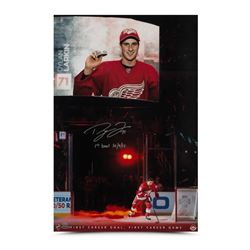 "Dylan Larkin Signed Detroit Red Wings 16x20 Limited Edition Debut Photo Inscribed ""1st Goal 10/9/15"""
