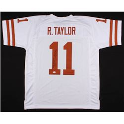"Ramonce Taylor Signed Texas Longhorns Jersey Inscribed ""2005 National Champion""  ""Hook 'Em"" (JSA COA"
