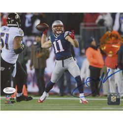 Julian Edelman Signed New England Patriots 8x10 Photo (JSA Hologram)