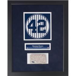 Mariano Rivera Framed 16x20 New York Yankees Stadium Monument Park Brick Display (Steiner COA)