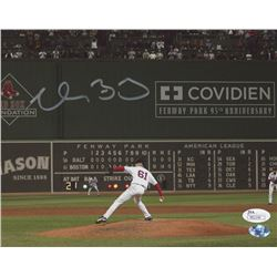 Clay Buchholz Signed Boston Red Sox 8x10 Photo (JSA COA  Sure Shot Promotions Hologram)