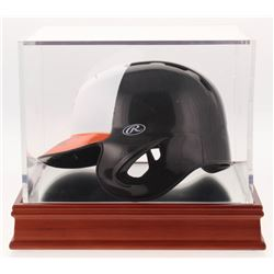Frank Robinson  Cal Ripken Jr. Signed Baltimore Orioles Mini-Batting Helmet with Display Case (PSA C