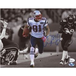 Aaron Hernandez Signed New England Patriots 8x10 Photo (JSA COA  Sure Shot Promotions Hologram)