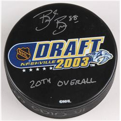 "Brent Burns Signed 2003 NHL Draft Logo Hockey Puck Inscribed ""20th Overall Pick"" (Burns Hologram)"