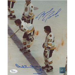 "Bobby Orr  Brad Park Signed Boston Bruins ""Bloody Ice"" 8x10 Photo (JSA COA  Great North Road COA)"