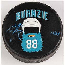 "Brent Burns Signed LE San Jose Sharks ""Burnzie"" Logo Hockey Puck (Burns Hologram)"