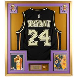 Kobe Bryant Los Angeles Lakers 32x36 Custom Framed Jersey with Replica Championship Ring