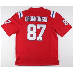 Rob Gronkowski Signed New England Patriots Throwback Jersey (JSA COA)