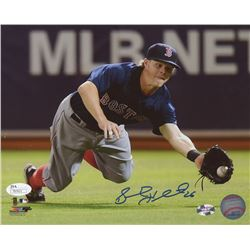 "Brock Holt Signed Boston Red Sox ""Diving Catch"" 8x10 Photo (JSA COA  Sure Shot Promotions Hologram)"