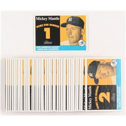 Lot of (42) #MMHRC1 - #MMHRC42 2007 Topps Heritage 1958 Home Run Champion Mickey Mantle