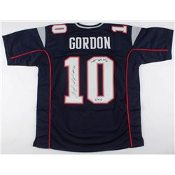 "Josh Gordon Signed New England Patriots Jersey Inscribed ""Caught Brady's 500th TD""  ""10/4/18"" (JSA C"