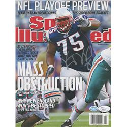 Willie McGinnest Signed New England Patriots 2011 Sports Illustrated Magazine (JSA COA  Sure Shot Pr