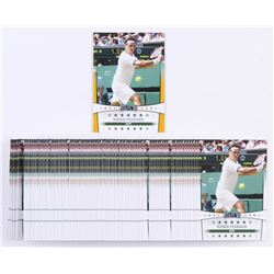 Lot of (101) 2018 Leaf Roger Federer Tennis Cards with (1) Gold Stars '18 #SY02  (100) Stars '18 #SY