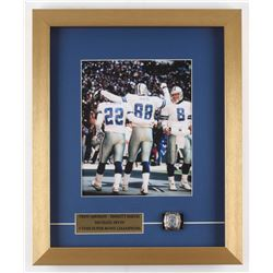 Troy Aikman, Emmitt Smith  Michael Irvin Dallas Cowboys 14x17 Custom Framed Photo Display with Repli