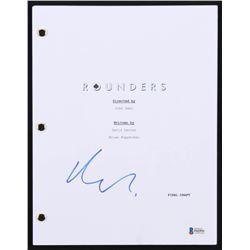 """Matt Damon Signed """"Rounders"""" Full Movie Script (Beckett COA)"""