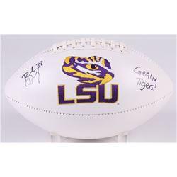 "Brad Wing Signed LSU Tigers Logo Football Inscribed ""Geaux Tigers!"" (JSA COA)"