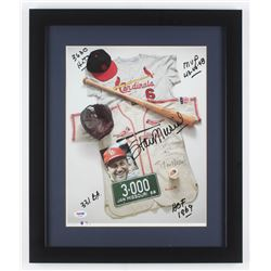 """Stan Musial Signed St. Louis Cardinals 16x19 Custom Framed Photo Display Inscribed """"HOF 1969"""", """"331"""