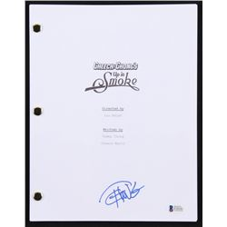 """Tommy Chong Signed """"Up in Smoke"""" Full Movie Script (Beckett COA)"""