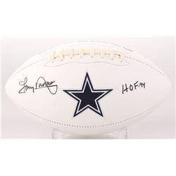 "Tony Dorsett Signed Dallas Cowboys Logo Football Inscribed ""HOF 94"" (Beckett COA)"