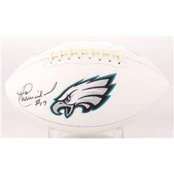 Harold Carmichael Signed Philadelphia Eagles Logo Football (JSA COA)