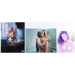 Lot of (3) Signed Photos with Katherines Heigl, Sienna Miller  Alyssa Miller (PSA COA  Beckett COA)