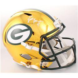 Brett Favre Signed Green Bay Packers Full-Size Chrome Speed Helmet (JSA COA  Favre Hologram)