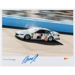 Brad Keselowski Signed Exclusive NASCAR 11x14 Photo (PA COA)