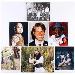 Lot of (7) Signed Photos with Michael Myers, Robert Duval, Matt Damon, Jimmie Walker, Matin Klebba