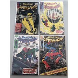 "Lot of (4) 1965-71 Marvel ""Amazing Spider-Man"" Comic Books"