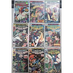 "Lot of (9) 1976-80 Marvel ""Amazing Spider-Man"" Comic Books"