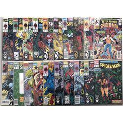 "Lot of (41) 1990-2001 Marvel ""Spider-Man"" Comic Books"
