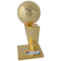 Julius Erving Signed Philadelphia 76ers 1983 NBA Championship Trophy (Fanatics Hologram)