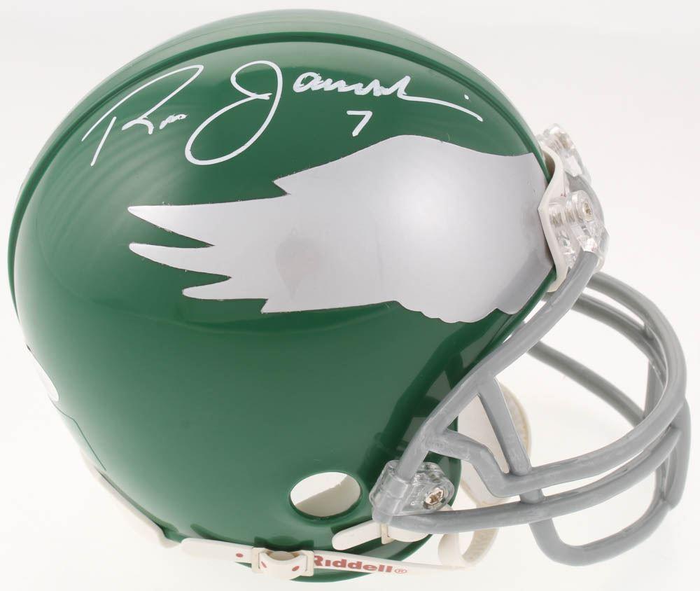 new arrival 1c64d 70dca Ron Jaworski Signed Philadelphia Eagles Throwback Mini ...