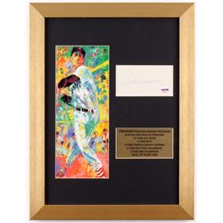 Ted Williams Signed 13x17 Custom Framed Cut (PSA LOA)