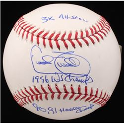 "Cecil Fielder Signed OML Baseball Inscribed ""3x All-Star"", ""1996 WS Champs""  ""90, 91 Howells Champ"""