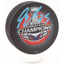 Devante Smith-Pelly Signed Washington Capitals 2018 Stanley Cup Champions Hockey Puck (Fanatics Holo