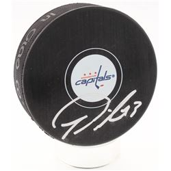 Tom Wilson Signed Washington Capitals Hockey Puck (Fanatics Hologram)