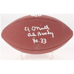 "Ed O'Neill Signed NFL Football Inscribed ""Al Bundy""  ""No. 33"" (Schwartz COA)"
