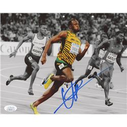 Usain Bolt Signed Team Jamaica 8x10 Photo (JSA COA)