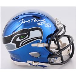 Jerry Rice Signed Seattle Seahawks Chrome Speed Mini-Helmet (Beckett COA)