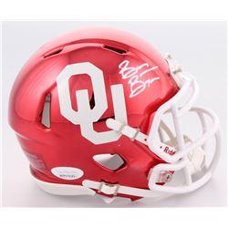 Brian Bosworth Signed Oklahoma Sooners Chrome Speed Mini-Helmet (JSA COA)